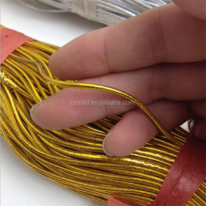 Factory high quality decorative 1mm metallic gold elastic string