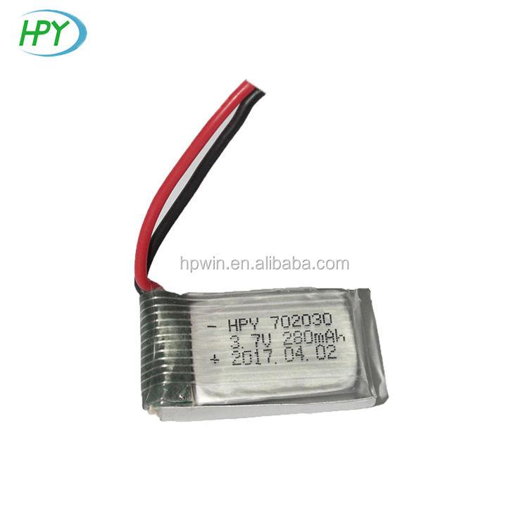 702030 3.7 V recarregável lipo 300 mAh Li-bateria de polímero para U830 Udi U816A RC quadcopter