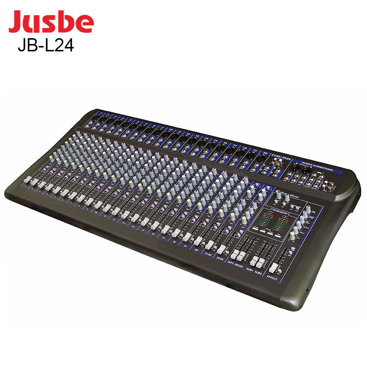 JUSBE JB-L24 professional+audio%2c+video audio interface 24 channel Large Dj sound System Mixer Console