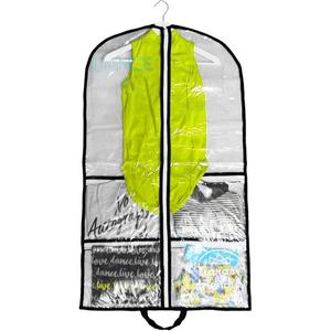 Dance Competition Clear Plastic PVC Costume garment bag with pockets