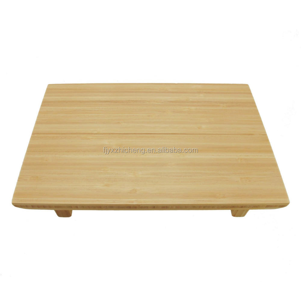 100% Natural Bamboo Sushi Cutting Board/Serving Tray - Rectangle - Natural and Carbonized