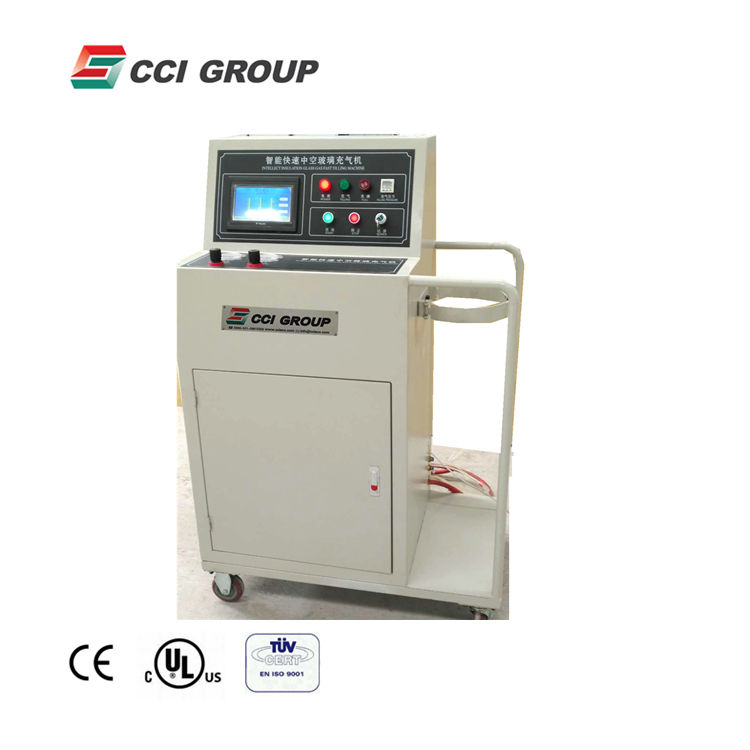 ZCJ04 advanced fast speed double glass argon gas filling machine for insulating glass