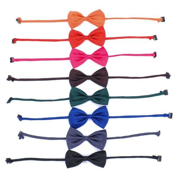 16 Colors Single Color Simple Dog Cat Accessories Ties Adjustable Necktie Collar Bowtie Pet Bandana Bow Tie For Dog