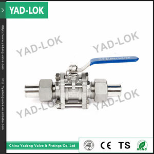 YAD-LOK Yueqing Easy Install Manual Forged Steel 2 Piece Trunnion Ball Valve DN20