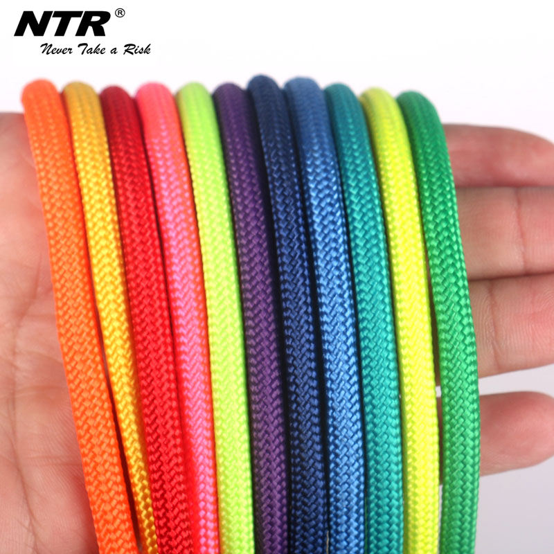colorful Fluorescent orange amusement equipment polyester rope 3mm nylon rope