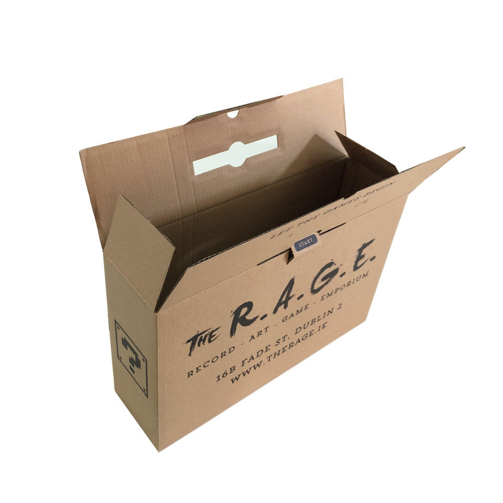 Shanghai profession factory production brown corrugated paper boxes for computer packaging