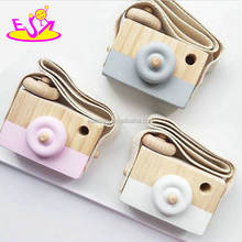 New hottest girls favorite pink wooden toy camera for toddlers W01A301