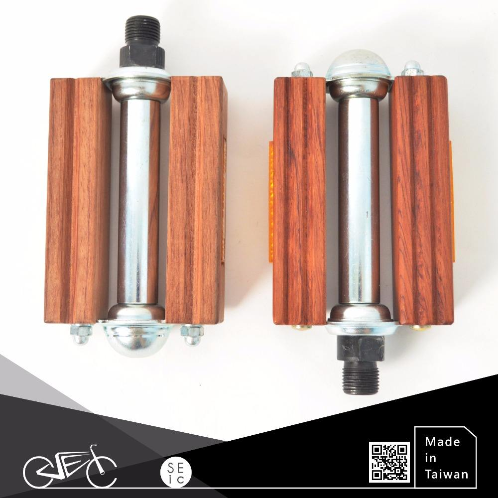 Classic Woody Bike Parts ODM Bicycle Wooden Pedal