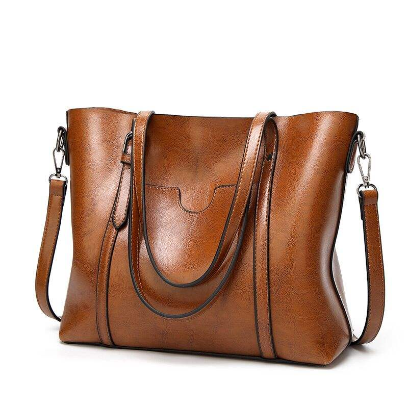 Hot Selling Laptop Women Handbags PU Leather Celebrity Tote Shoulder Bags