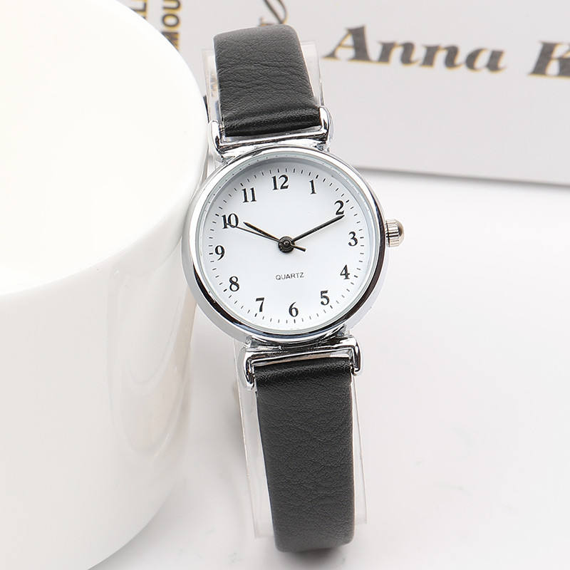 Chinese factory wholesale cheap simple design fashion Geneva Tiny and minimal lady cloth watch woman with multicolor