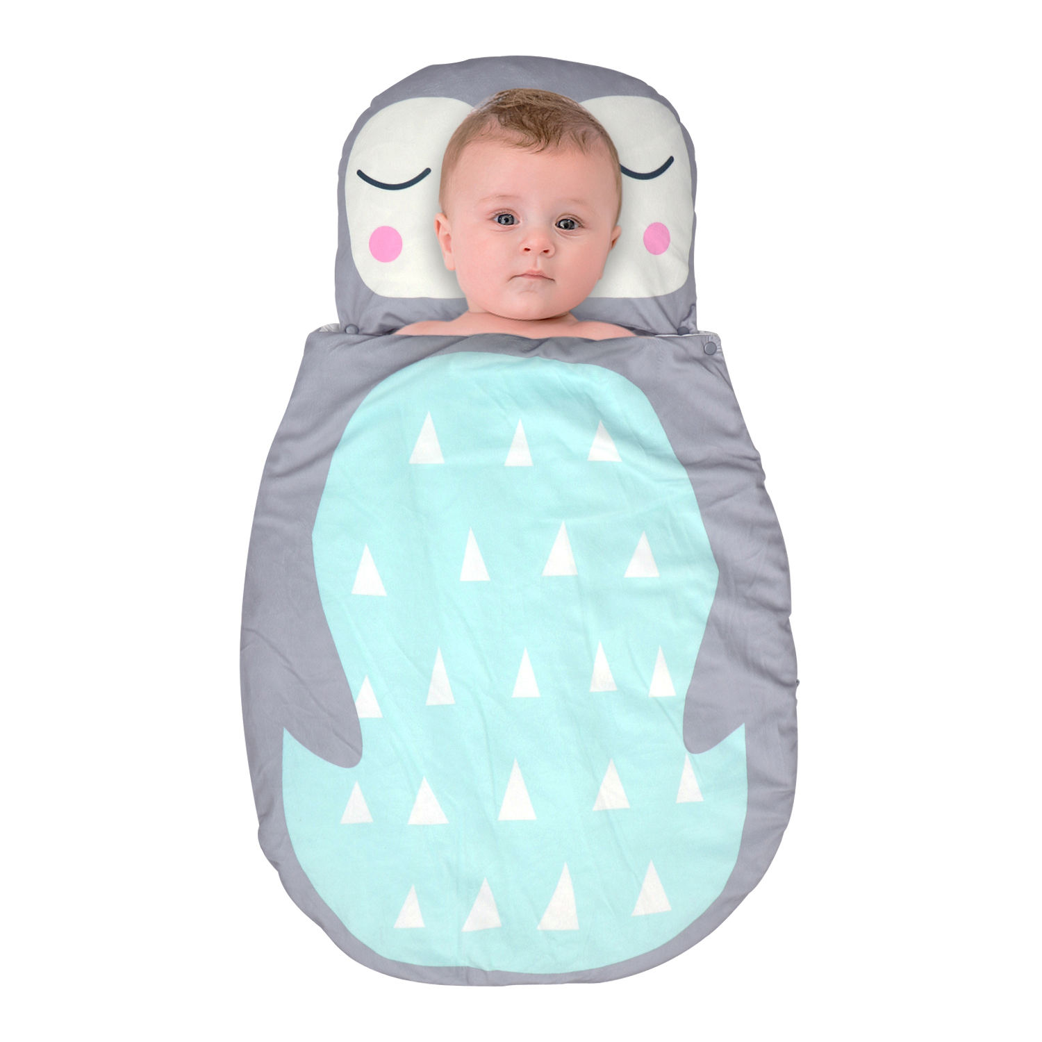 Hot selling egg-shaped baby sleeping bag with winter thickening cartoon for children