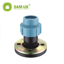 110mm PP Compression Fittings HDPE Flange