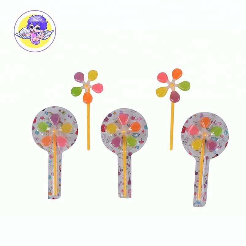 korean colourful windmill candy lollipop with plastic sticks