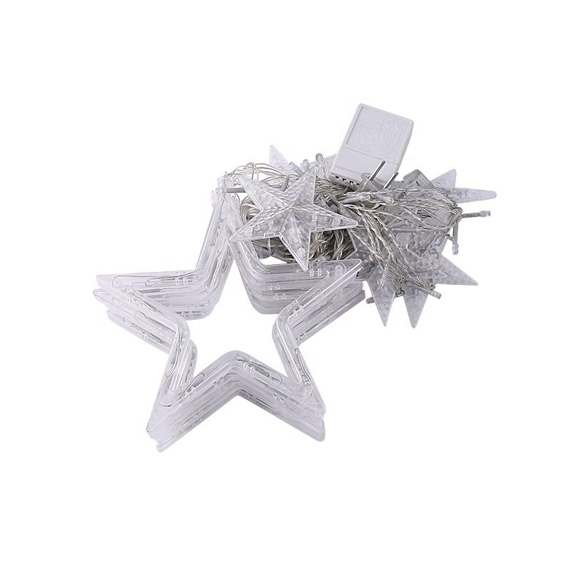 eid mubarak ramadan decoration Warm white stars led string fairy light 2.5M 138Leds curtain light Christmas home lighting