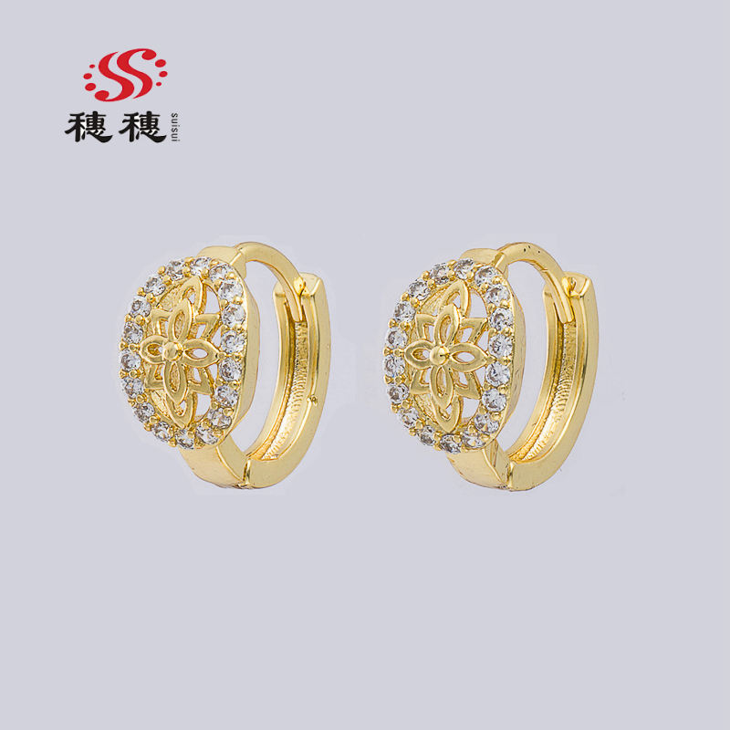 SUISUI wholesale jewelry 2020 on hot sale 18K Gold Earrings Fantasy Nepal Jewelry Earring