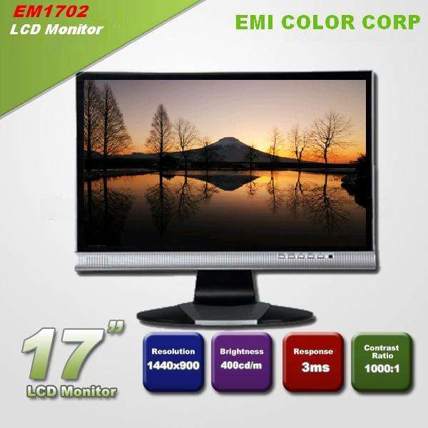17 inch 16:10 1440 * 900 VGA Desktop Laptop TFT - LCD LED Monitor