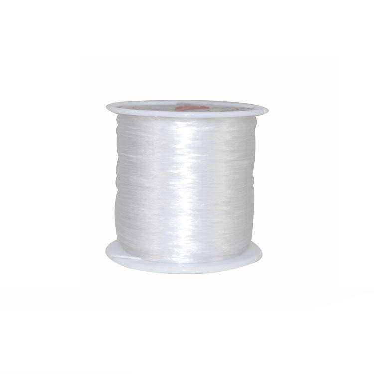 the wholesale white fiber elastic crystal stretch thread for woven bracelet
