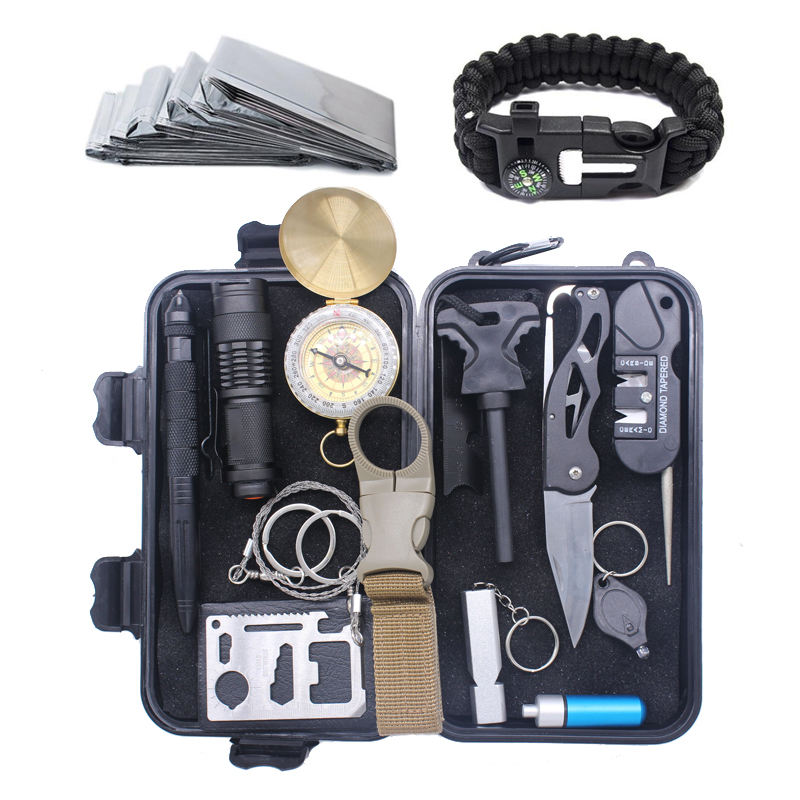 16 in 1 Disaster Tactical Multitool Camping Professional Outdoor Survival Kit