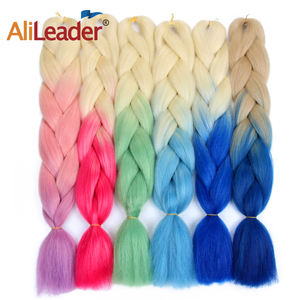 AliLeader Wholesale Jumbo Ultra Braiding Synthetic Hair Extension For Young Ladies