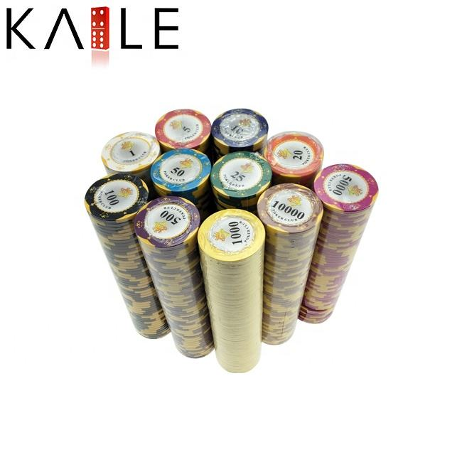 Kaile Stock Cheap 14g Round Clay Poker Chip Factory