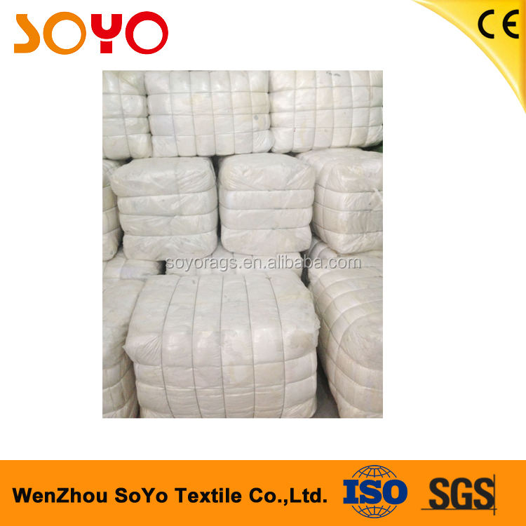 Cotton fabric cleaning rags to USA textile recycling used cotton T-shirt wiper