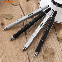 5 in 1 multi function tool pen with customised logo metallic ball point pen with stylus