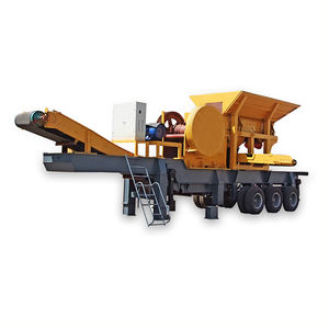 2017 china new design wheel mobile crushing station, Mobile impact stone crusher with vibrating screen