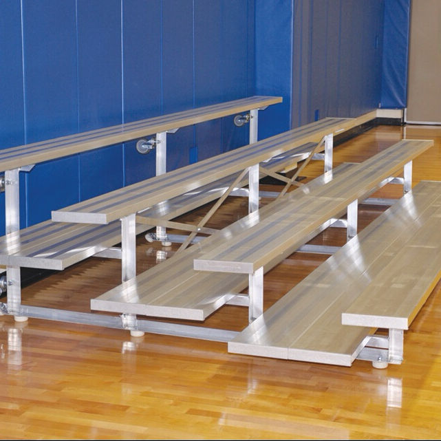 Indoor aluminum portable 4-row bleacher movable grandstand