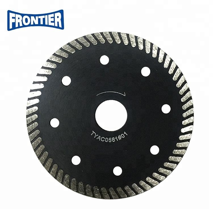 105*1.2/0.8*10*68*20mm Hot Press special ultra thin turbo diamond saw blade for cutting hard ceramic tile