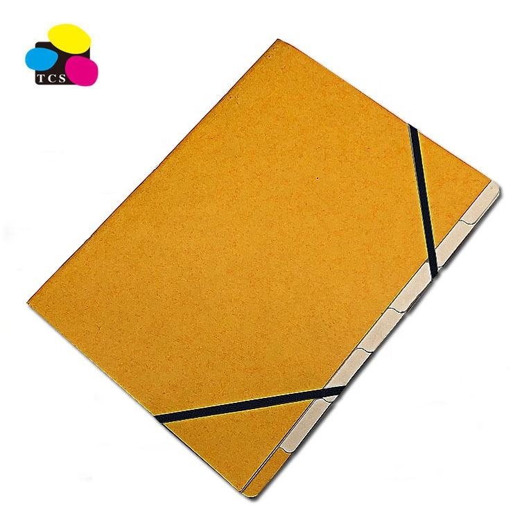 High Quality ECO-Friendly Amazon Suppliers Assorted Colors Index Paper Cardboard Divider With Elastic Bands