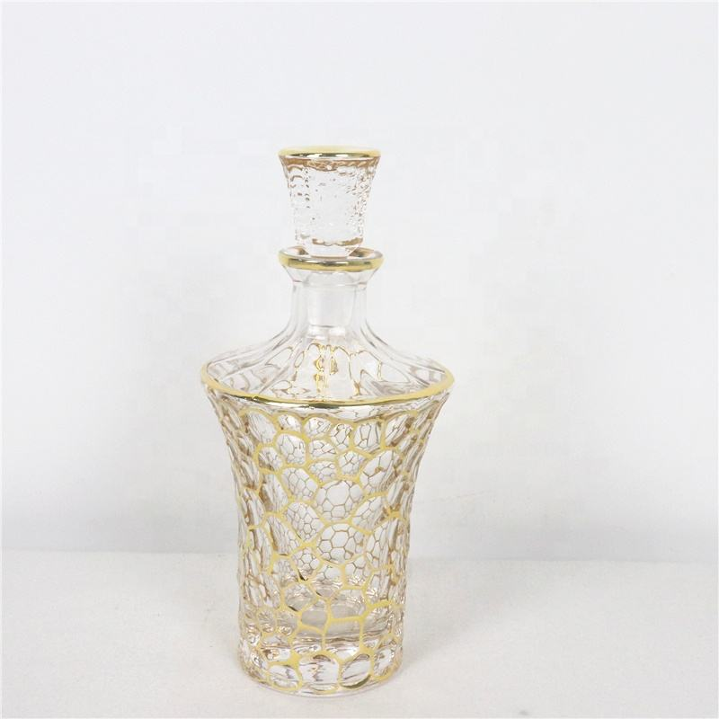 wholesale lead free crystal glass perfume bottle for arabic oud