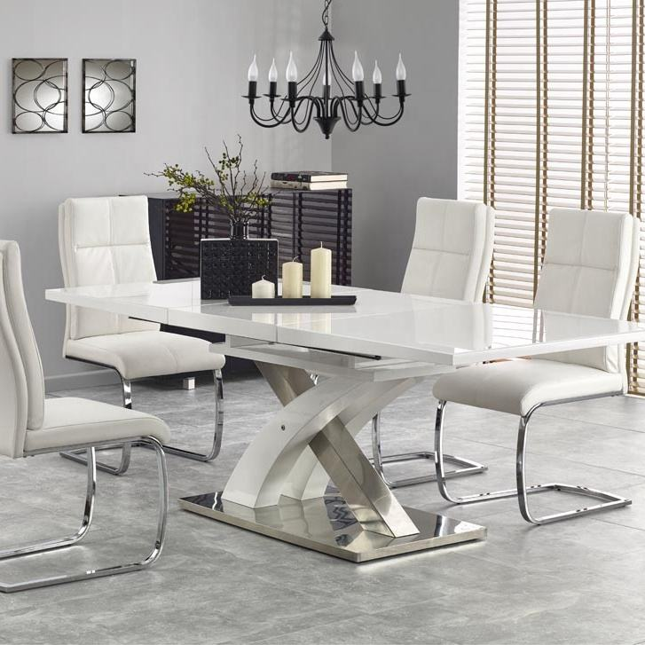 2020 Italian Model Modern MDF Butterfly Extension High Gloss Luxury Dining Table in Dining Room Furniture