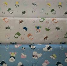 baby cloth cartoon print fabric 100% cotton non-Fluorescent fabric
