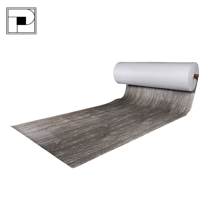 Plastic Thin Wood Embossed PVC Vinyl Flooring Roll for Residential/Commercial