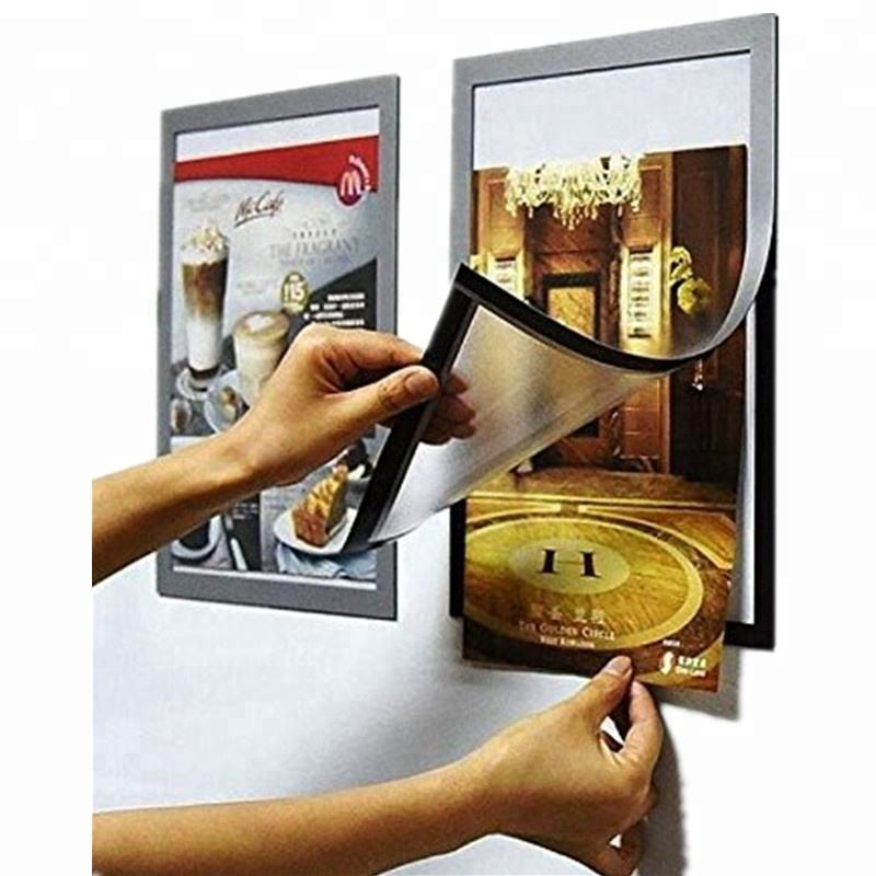 Pack of 2 A4 Self-adhesive Frame Double faced window poster frame magnetic display frame