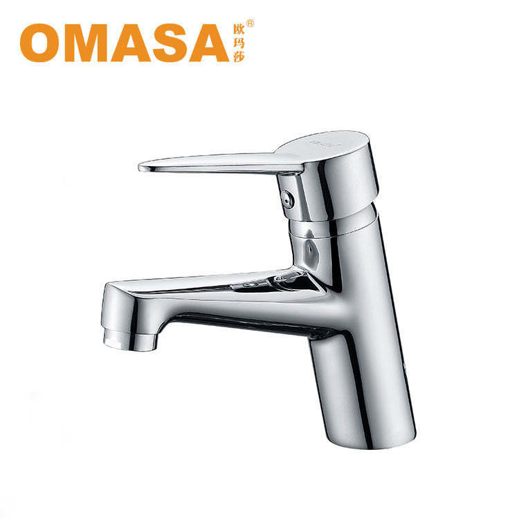 Bathroom Chrome Polish Basin Mixer Tap Single Hole Single Handle Faucet