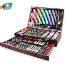 Wooden box Drawing Art Set for kids super artist tool kit