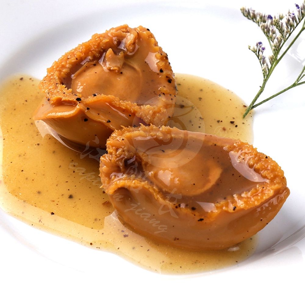 BIG ABALONE CAN IN Black Truffl and Braise in soy sauce Abalone farm WHOLESALE SHELLFISH