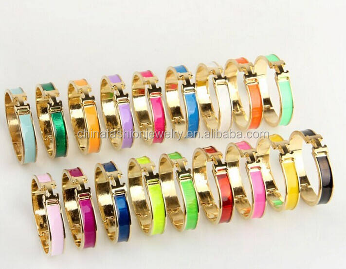 CL016 Fashion Golden Couple Enamel Zinc Alloy Bracelet