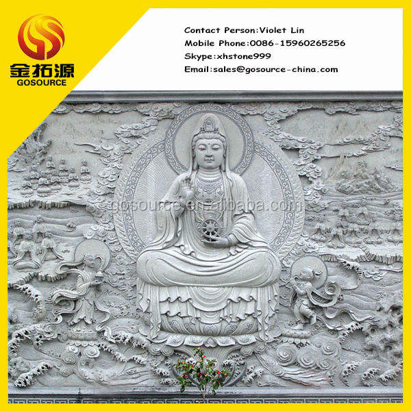 buddha statue relief wall sculpture