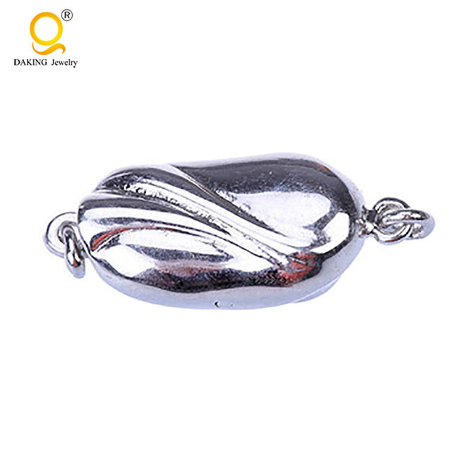 fashion 925 sterling silver insert metal clasp