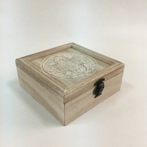 New Design Printed Chinese Style 나무 Jewellery Box