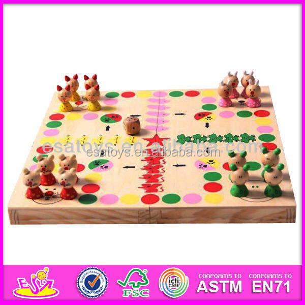 2015 Multifunction wooden board games, hot sale wooden table games , new kids wooden board games W11A004-S