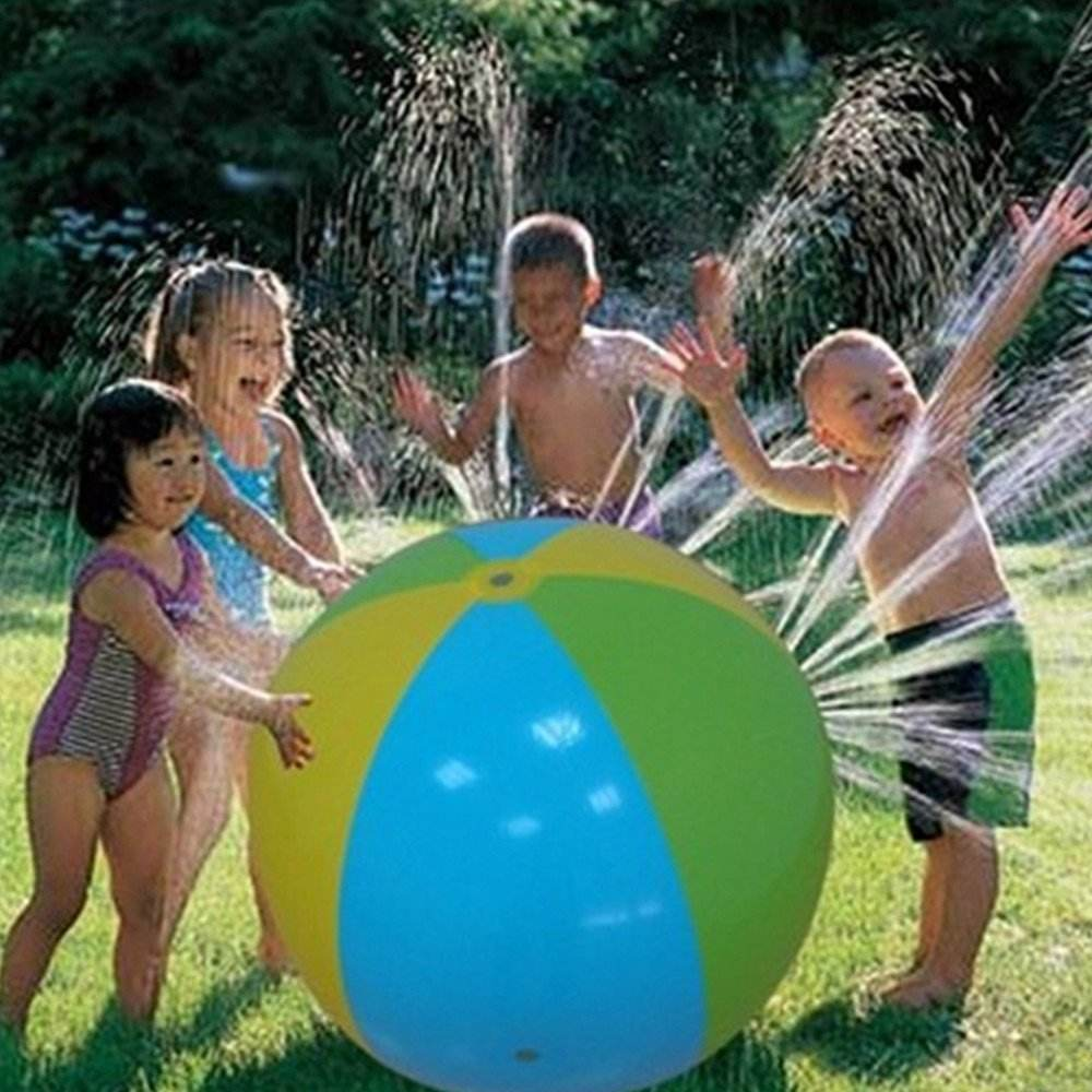 Wholesale PVC inflatable outdoor spray water beach ball for kids outdoor beach ball sprinkler