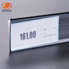 Self adhesive label holders plastic price tag holder for supermarket shelf display clips data strip