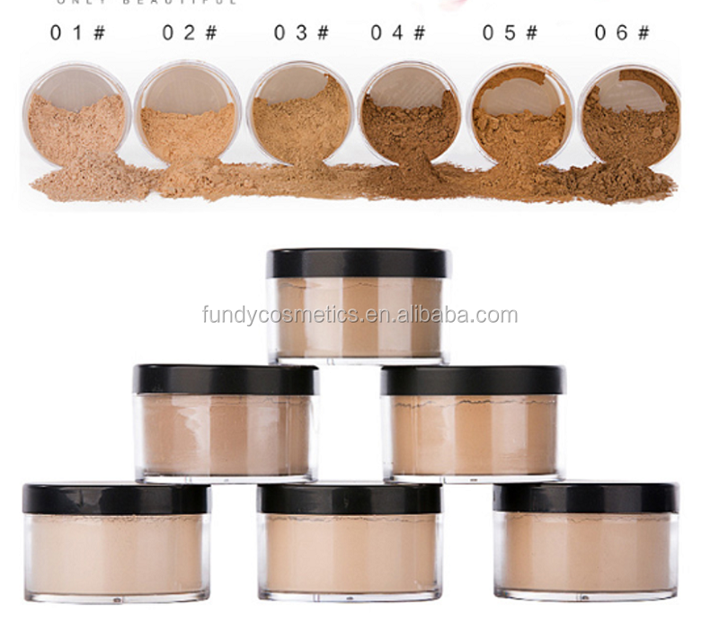 OEM/private label makeup loose powder smooth silky mineral waterproof brighten setting powder 6 colors Face powder foundation