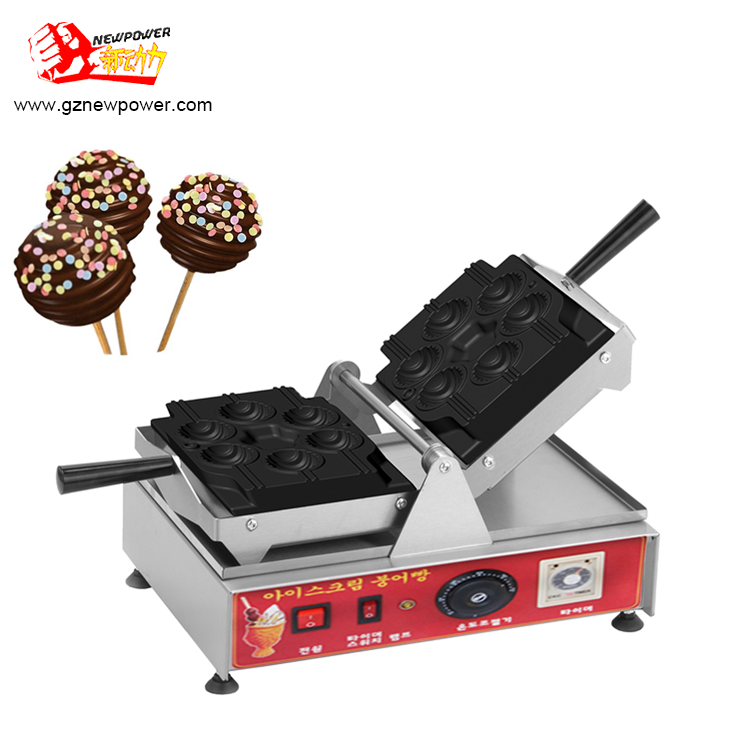 China bakkerij apparatuur lolly wafels op stok/lolly wafel makers/wafelijzer