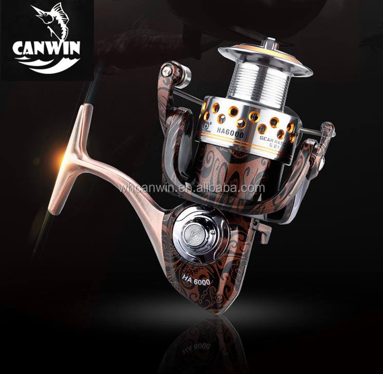 High End metal pesca spinning carrete al por mayor Corea spinning