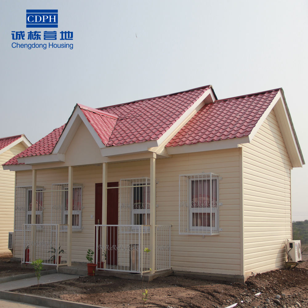 Prefabricated villa used as affordable residential buildings