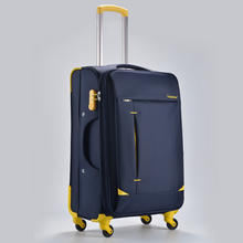 2018 Hot sale nylon travel trolley luggage best price suitcase with 4 wheels hand carry bags
